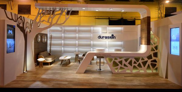 Las superficies sólidas Durasein participaron en la 9a Feria de la Construcción.